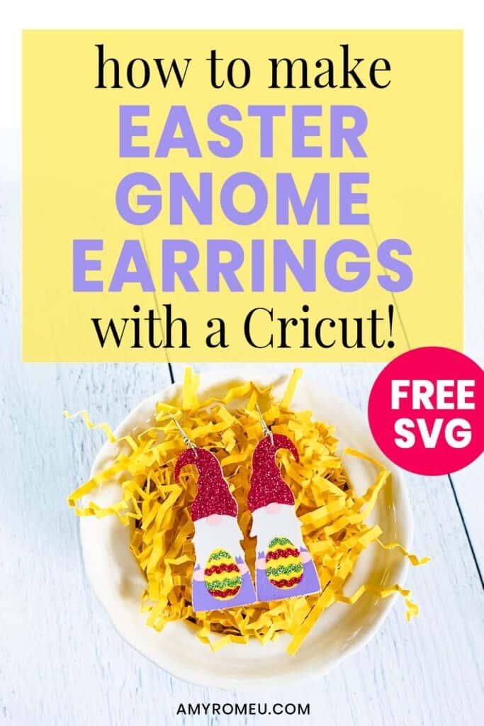 easter gnome earrings